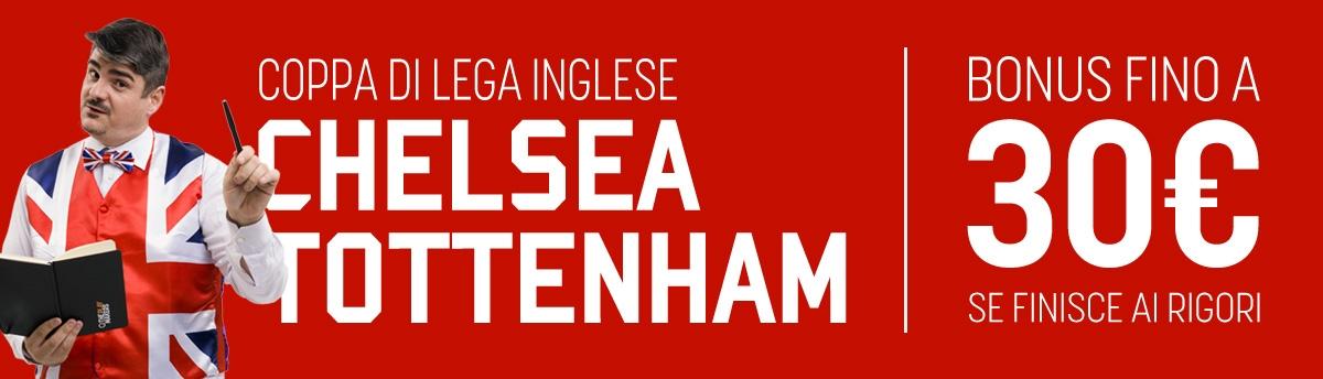 Coppa di Lega Inglese, 30€ di bonus se finisce ai rigori